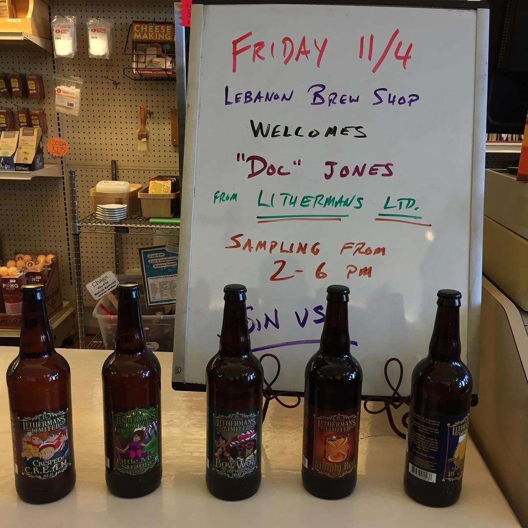 Tasting event today from 2-6pm @lebanonbrewshop