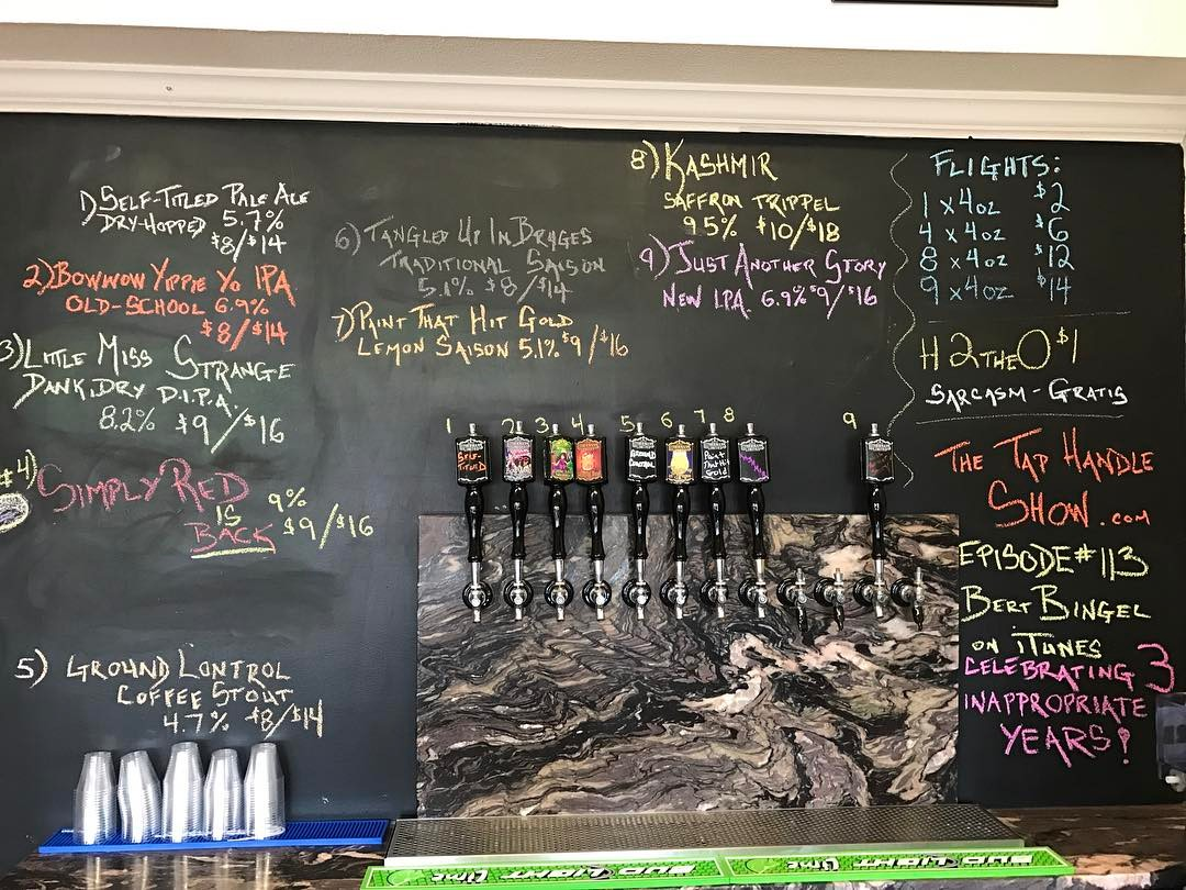 Nine beers on tap to start today! Including the return of Simply Red. Open from 12-5 today for flights and growler fills. #concordnhbrewed #howmuchcanyoucarry #lithermans #nhbeer #MHPlikes tap handles