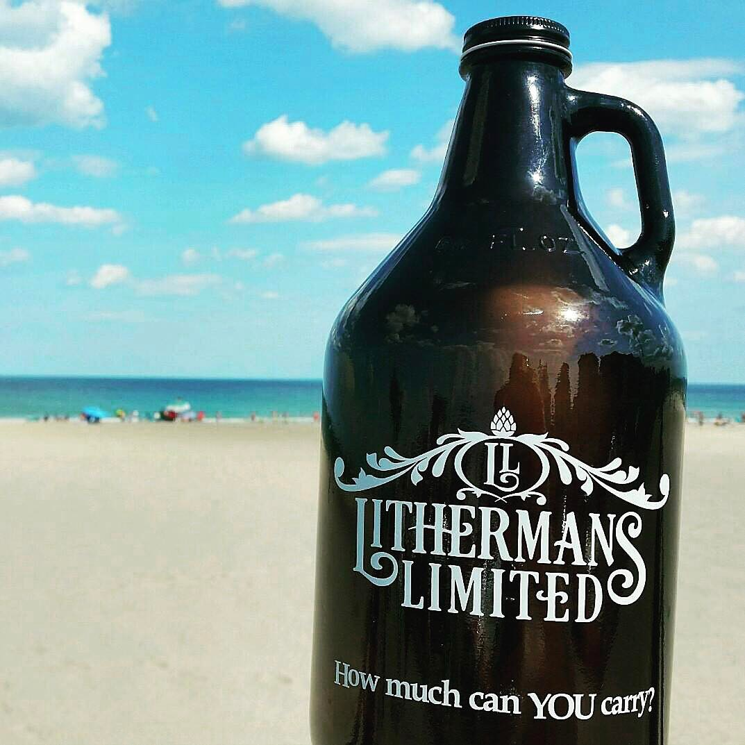 Where did your growler go this weekend? #lithermans #HowMuchCanYouCarry #wheresmygrowler #MHPlikes sand #sluglife
