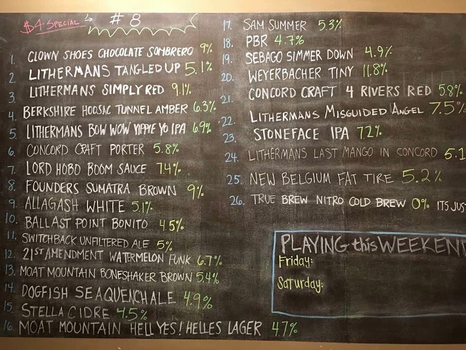 Looking for Lithermans on tap in Concord? Check out true brew barista! They currently have five of our beers on tap.#lithermans #HowMuchCanYouCarry #concordNHbrewed #truebrewbarista