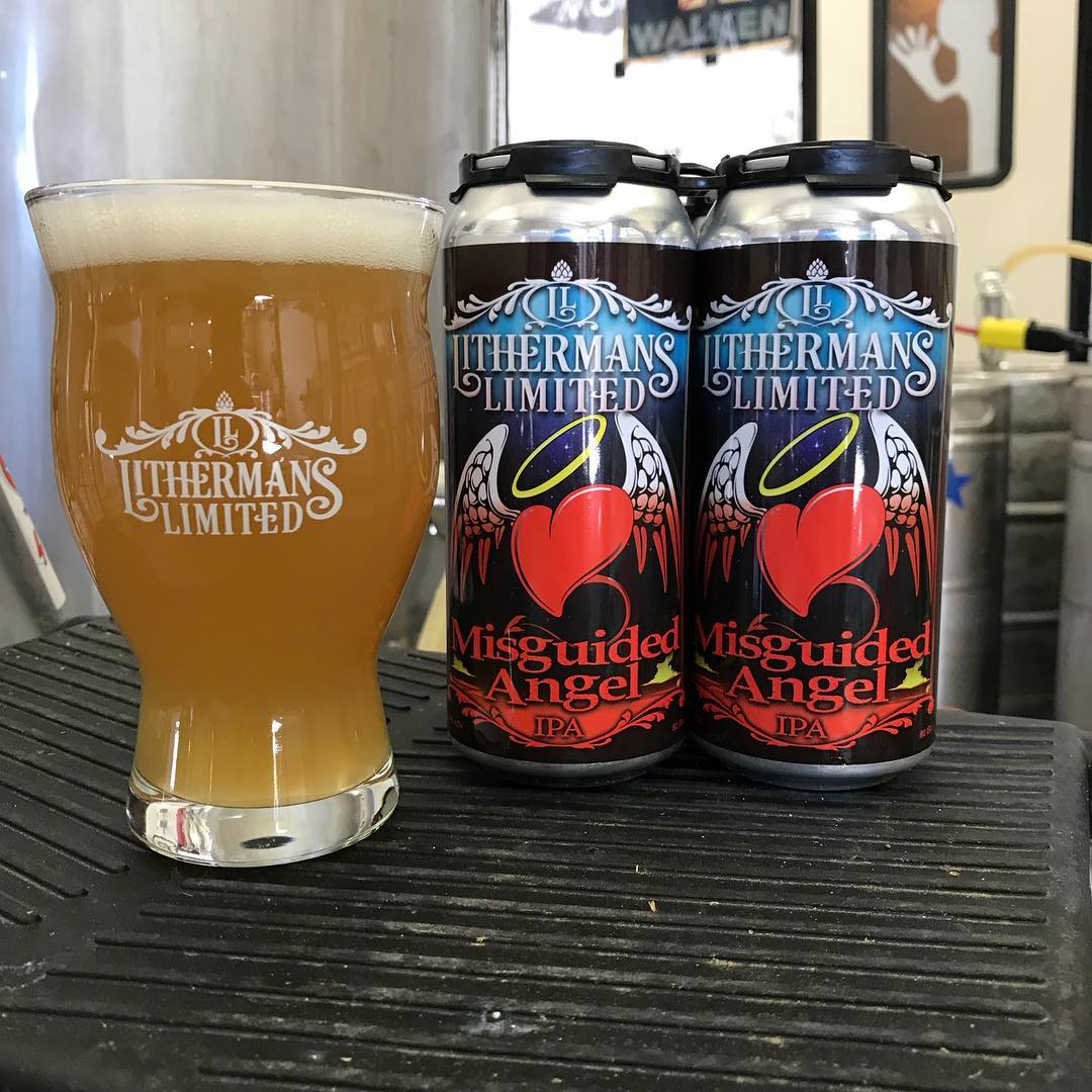 A fresh batch of Misguided Angel IPA in on tap in the tasting room. We also have of cans as well.  Open at 4pm today. #HowMuchCanYouCarry #lithermans #concordnh #nhbeer #misguidedangelIpa