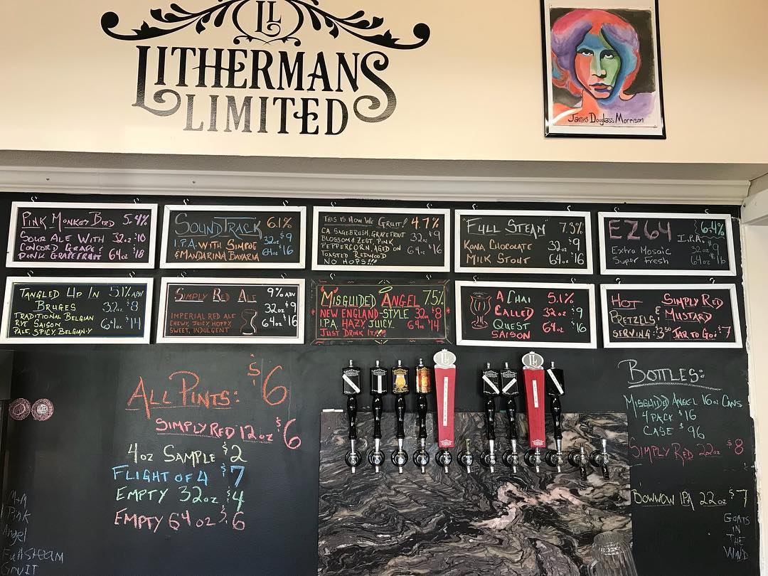 Open from 12-5 today! 9 beers on tap and Misguided Angel cans available.  #lithermanslimited #concordNHbrewed #concordnh #MHPlikes  Beer