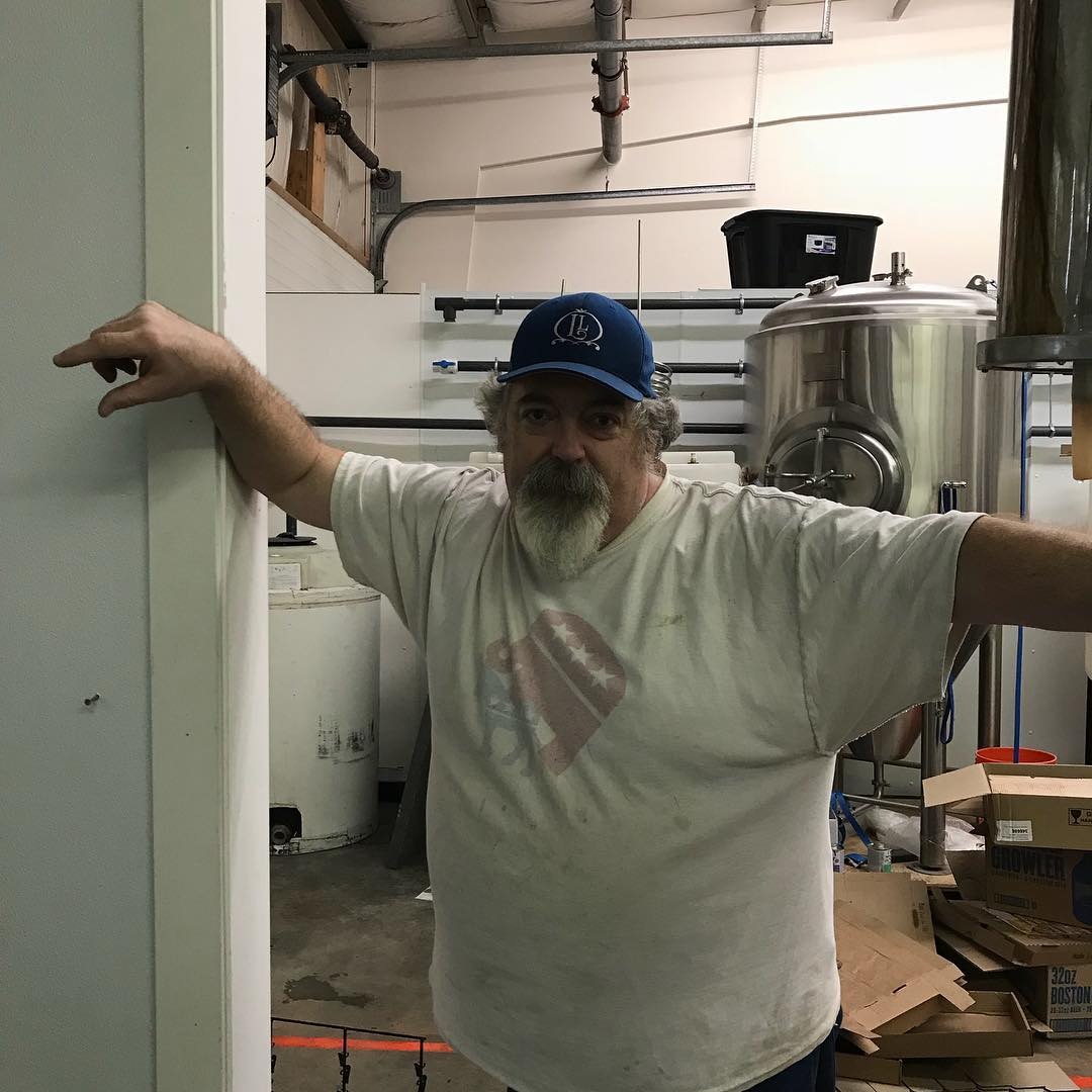 """This is """"The Geoffrey"""" he is an intrical part of our team.  Design, fabrication, repair, keg washing and tinkering, he does it all. If it wasn't for Geoff, we would not be able to craft the beer we do. If you ever see him wander into the tasting room, thank him for all he does. #lithermanslimited #concordnh #nhbeer #nhbrewers #everybodyneedsageoff"""