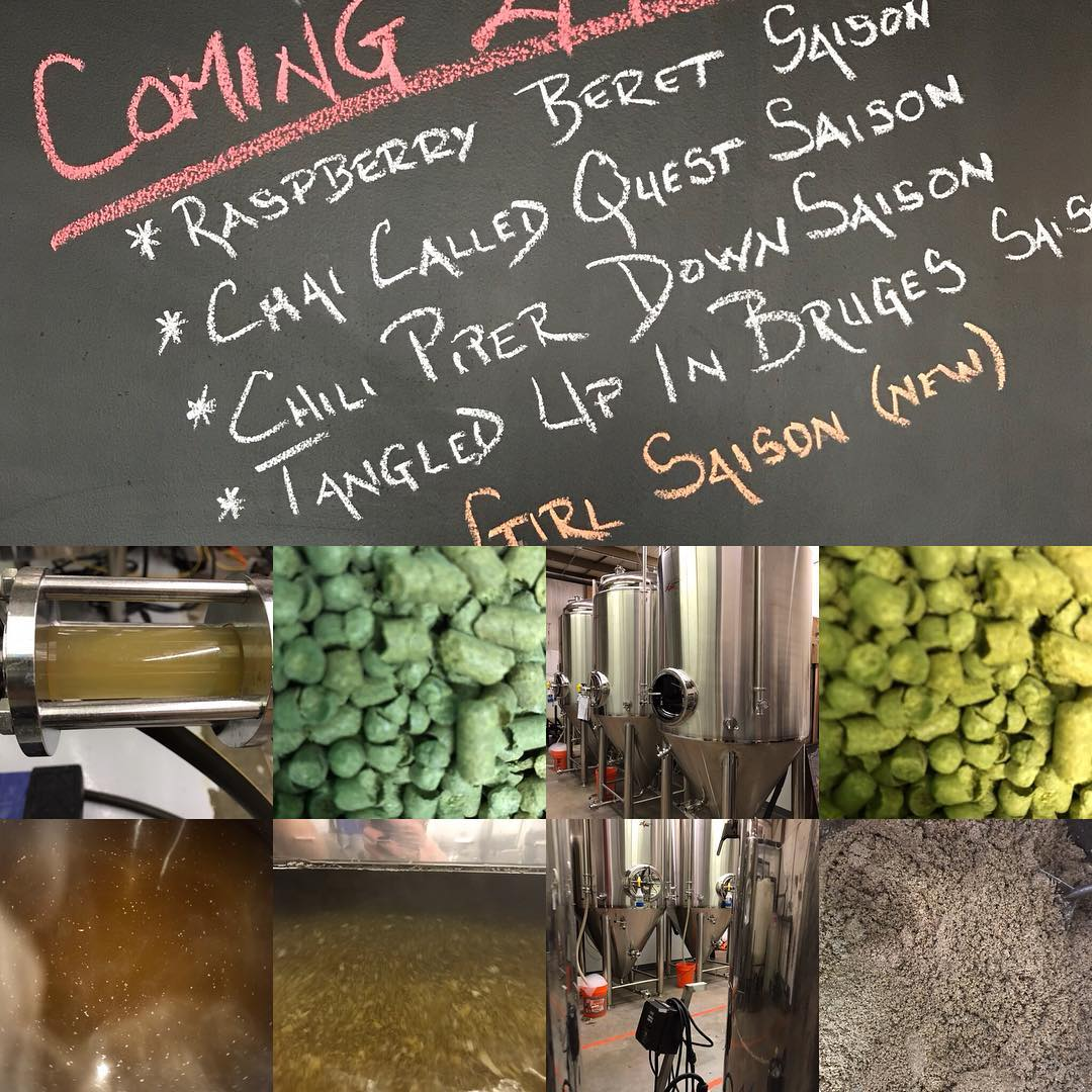 Brewing up a storm this week! Be on the look out for a few of our Saisons back on tap in the tasting room in a few weeks. #HowMuchCanYouCarry #lithermanslimited #saison