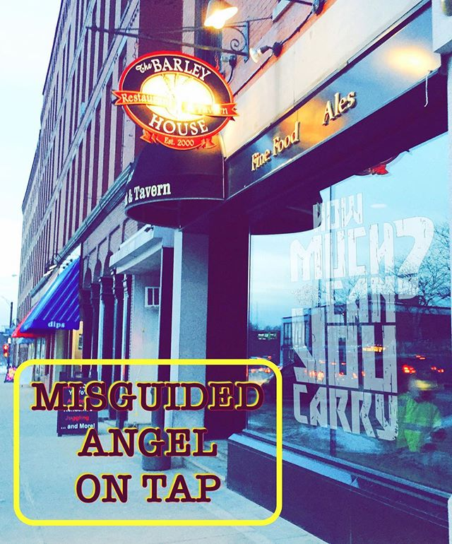Misguided Angel IPA is on tap at the Barley House in Concord. #lithermanslimited #concordNHbrewed #concordnh