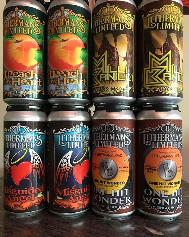 Don't forget to stock up on your favorite cans for the holiday weekend! We are open Friday from 4 to 8 PM, Saturday from noon to 7 PM and Sunday from 12 to 4 PM. #lithermanslimited #howmuchcanyoucarry