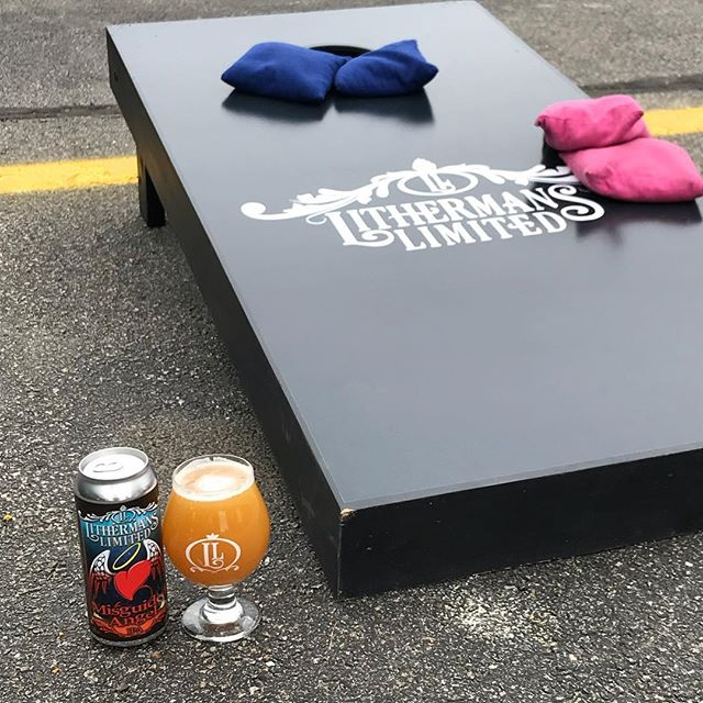 Tasting room is open today from 12-7pm! Cans of Misguided Angel and Lil Peach of My Heart available as well as 8 beers on tap.  #lithermanslimited #howmuchcanyoucarry