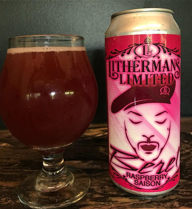 "Our Raspberry Saison ""Beret"" Goes on sale in the tasting room this Thursday!"