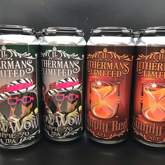 Cans of Bow Wow Yippie Yo IPA and Simply Red Ale  are availablevstarting today at 4pm in the Taproom. #howmuchcanyoucarry #lithermanslimited